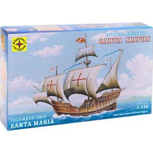 Escala-1-150-Santa-Maria-buque-insignia-de-Cristobal-Colon-maquetas-de-barcos-Kits