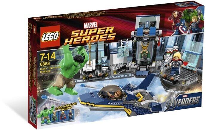 2012 LEGO HULK'S HELICARRIER BREAKOUT 6868, MARVEL SUPER HEROES, RETIRED, RARE