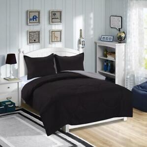 Kids Bedding Solid Color Reversible Bed Sheet Set Ebay