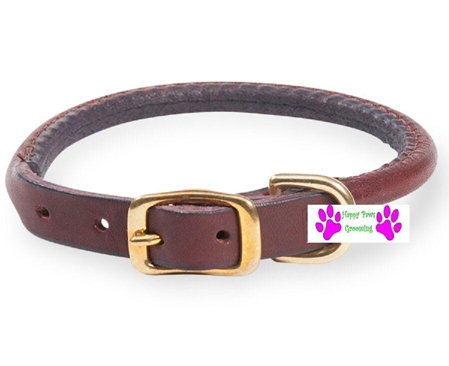 USA Herstellung Herstellung Herstellung Latigo Leder Gerollt Rund Hund Collar&leash Set Premium Robust     | Smart  3315c4