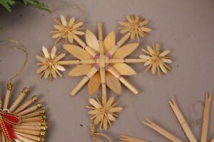 étoile De Paille Lavent Décorations Pour Arbre Noël Décoration Set