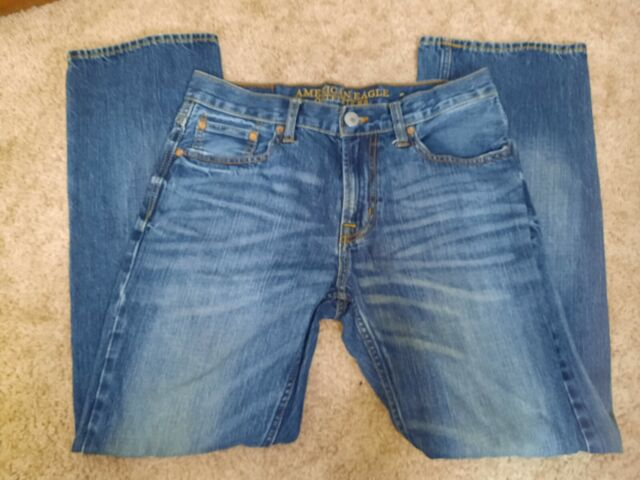 American Eagle Bootcut Dark Wash Denim Jeans Pants Mens Size 30x30 actual 31x29