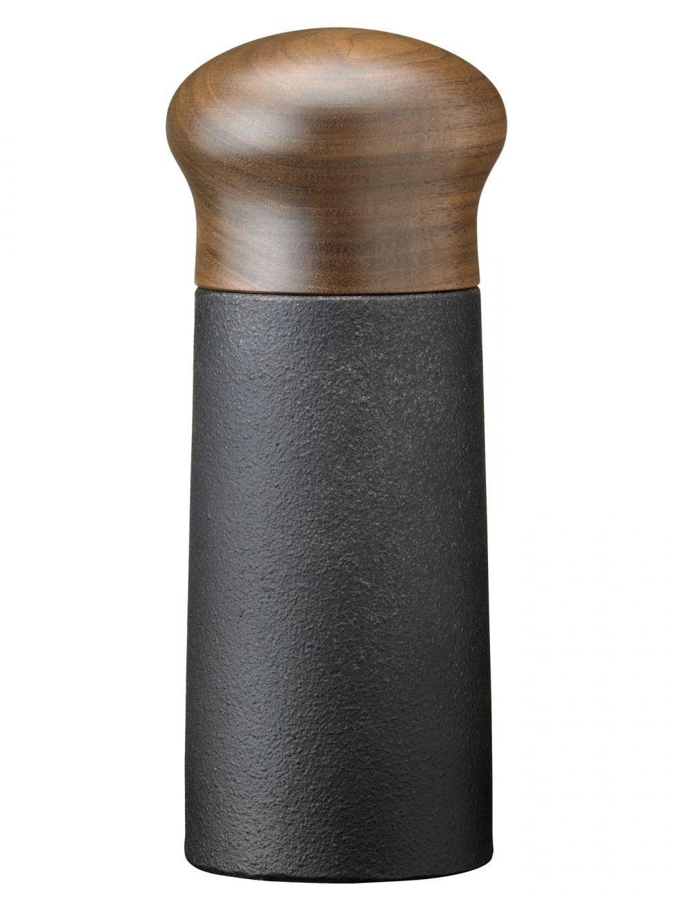 Skeppshult Herbes-Et le Poivre Moulin en fonte avec walnussholz couvercle 15 cm
