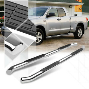 Chrome-3-034-Round-Side-Step-Nerf-Bar-Running-Board-for-07-16-Tundra-Crew-Double-Cab
