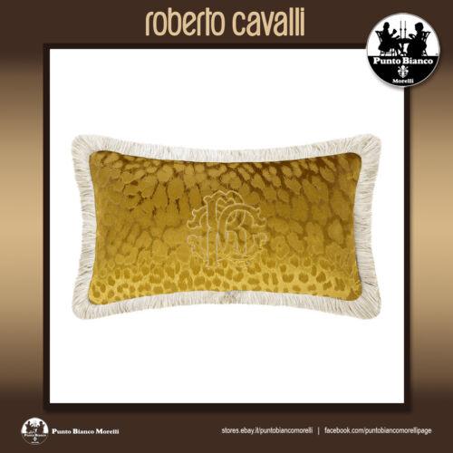 Gold cushion ROBERTO CAVALLI HOMEMONOGRAM Cuscino giallo