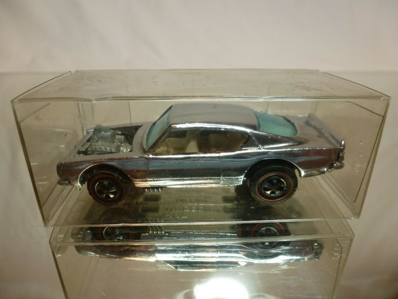 HOT WHEELS rosso LINE 1:64 - - - CUSTOM KING KUDA 1969   CHROME   - GOOD CONDITION d1a401