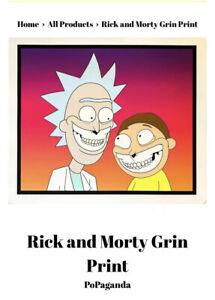 1 50 Rick Y Morty Grin Impresión Popaganda Ron Inglés Giclee Firmada Y Numerada Ebay