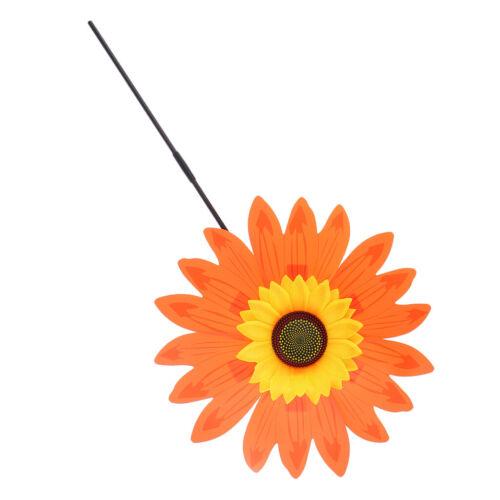 36cm DIY Sonnenblume Windmühle Windrad Windspiel Spielzeug Gartendeko Orange