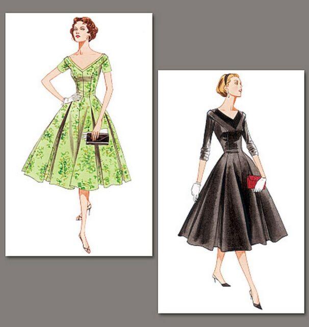 V2903 Vogue Vintage Style 1957 Sewing Pattern Misses\' Fitted Dress ...