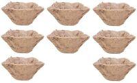 (8) Ea Panacea 84168 14square Coco Fiber Hanging Basket Planter Formed Liners