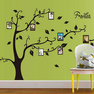 PD-Wall-Decal-Sticker-Large-Vinyl-Photo-Picture-Frame-Removable-Family-Tree-US