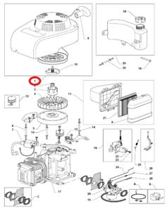 Mountfield HW514 PD Retroceso Montaje RM55 pieza de repuesto Original 118550276 1