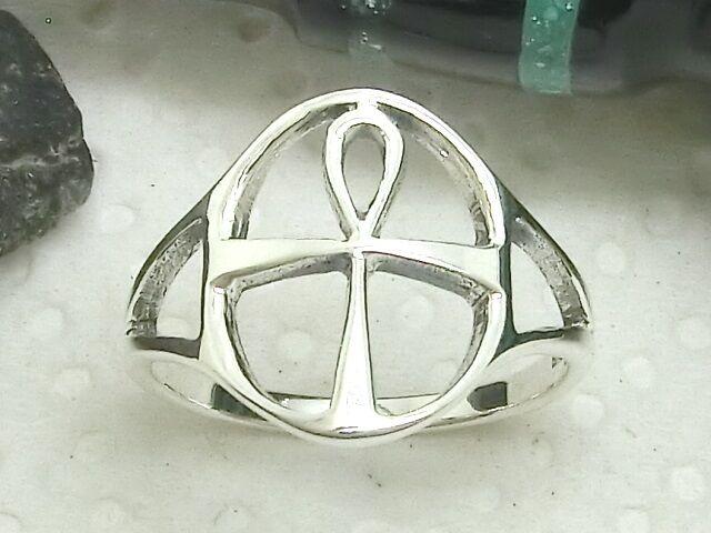 Filigree Ankh Silver Ring 925 anch Henkel Cross Loop Cross