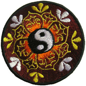 Aufnaeher-8-cm-PATCH-Mandala-Yin-amp-Yang-Indien-Nepal-Goa-Meditation-psy-Jin-Jang
