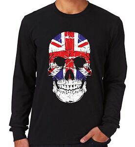 Velocitee Ladies Vest UK Skull GB Union Jack Flag Scary Evil British V16