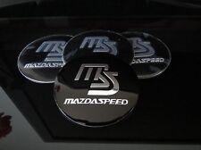 MAZDA MAZDASPEED WHEEL RIMS CENTRE CAP HUB COVER DECAL STICKER MX5 RX7 RX8 MPS