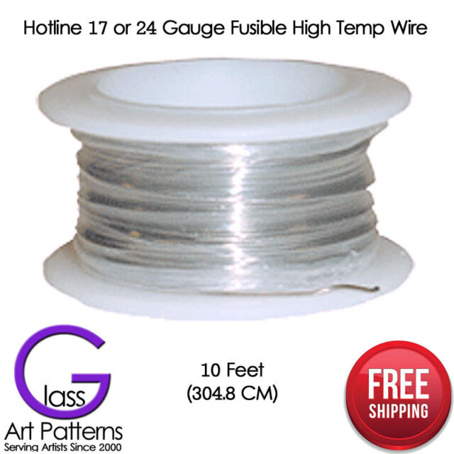 17 or 24 Gauge High Temp Wire Kiln Fusing Supplies 10' Ceramics or Glass Hotline