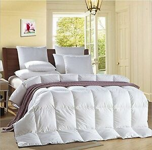13-5-Tog-Goose-Feather-Duvet-Quilt-With-034-25-DOWN-034-Bedding-All-Sizes-in-Stock