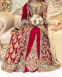 Red & Burgundy Bridal Dress. Wedding Dress. Indian Bridal Dress | eBay