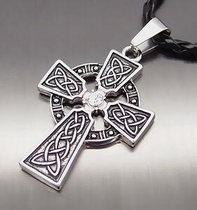 men women irish celtic knot cz cross boy pewter pendant. Black Bedroom Furniture Sets. Home Design Ideas