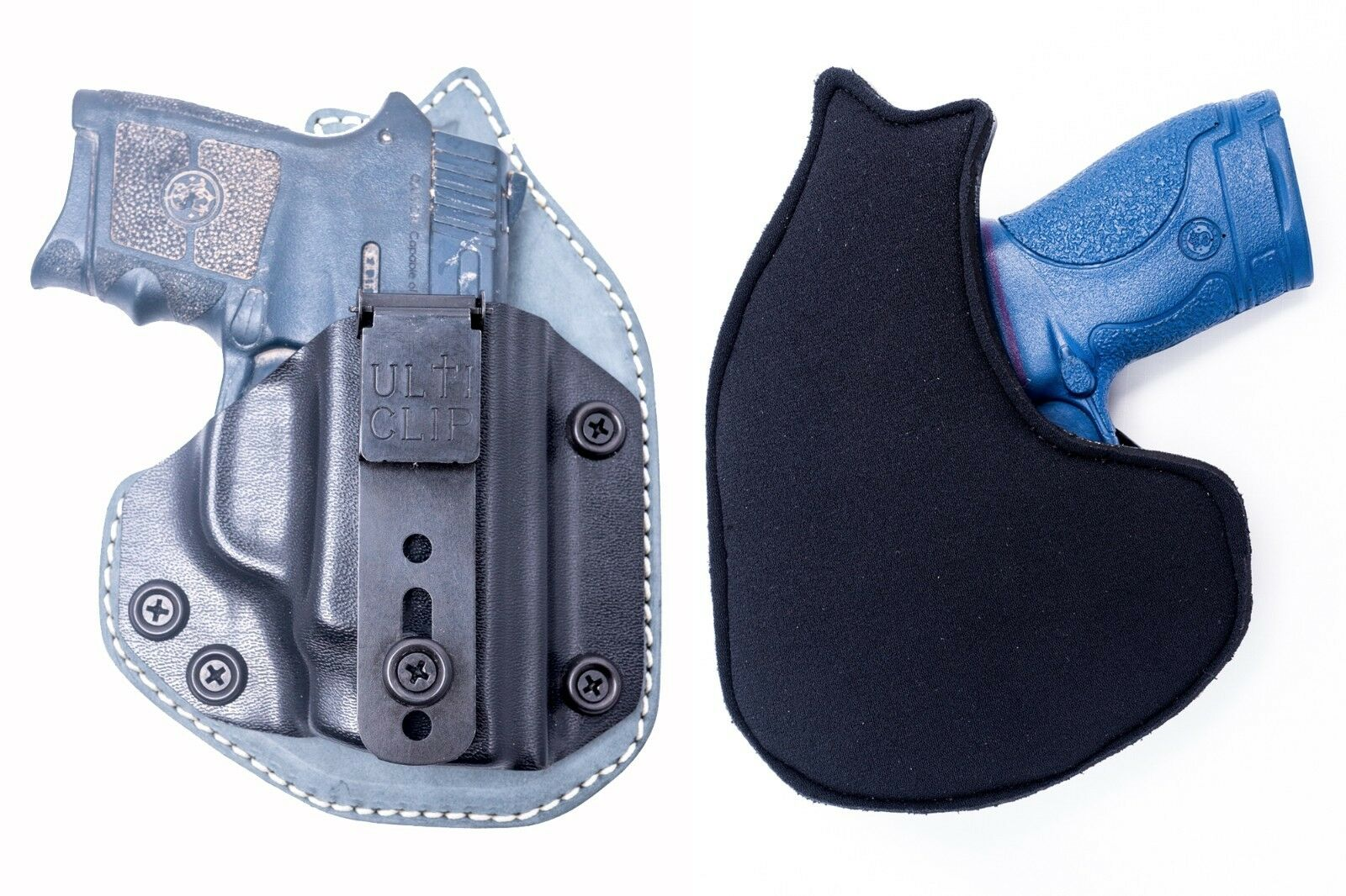 S&W Bodyguard w  laser   Kydex Leather Neoprene Hybrid IWB Appendix Carry