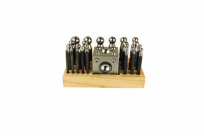 25 Pc Doming Dapping Hardened Steel Punch & Block Set, Jewellery Making. J1193