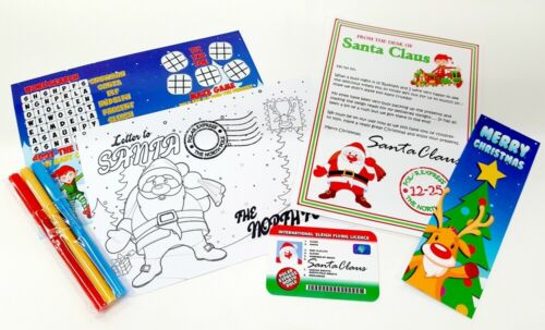 Christmas Eve Gift Box Filler Pack Includes Letters to /& from Santa Xmas 6 Items