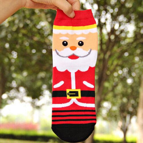 Christmas Socks Santa Claus Xmas Winter Warm Fun Socks Gifts Kids Girl Boy Women