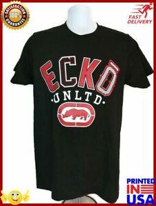 Ecko-Unltd-Graphic-Men-039-s-T-Shirt-Black-Short-Sleeve-Nwt