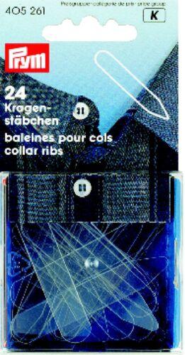 Prym 24 Kragenstäbchen KST 10x55 mm transparent 405261