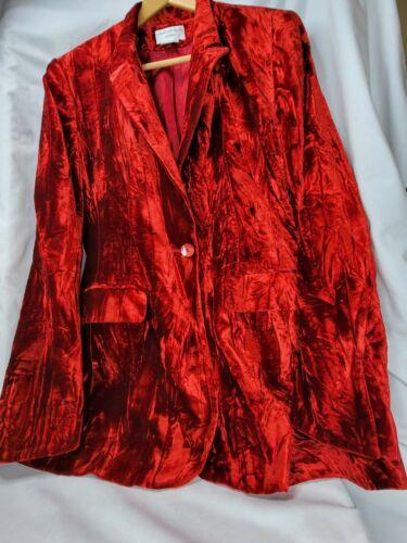 Charles Gray London Red Velvet Blazer size 14 NWOT - image 1