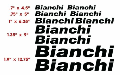 BIANCHI   BICYCLE  VINYL CUT DECALS $13.99  FREE SHIPPING   CHOOSE COLOR 10