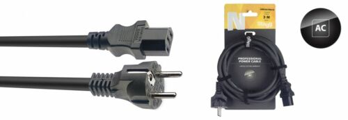 Kaltgeräte Kabel Netzkabel PC Strom Kabel mit Schukostecker 3,0m extra stark