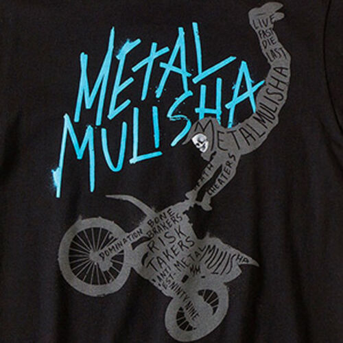 Metal Mulisha Intake T shirt boys youth kids Black Short Sleeve Motocross Tee
