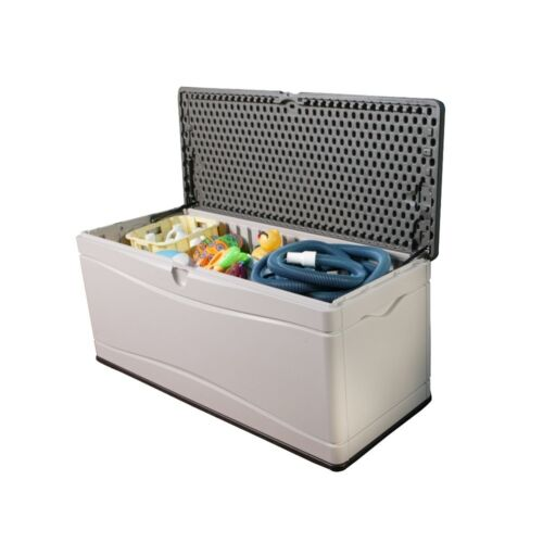 Large Garden Plastic Storage Shed Lifetime 500L Outdoor Deck Box Tools Cushions