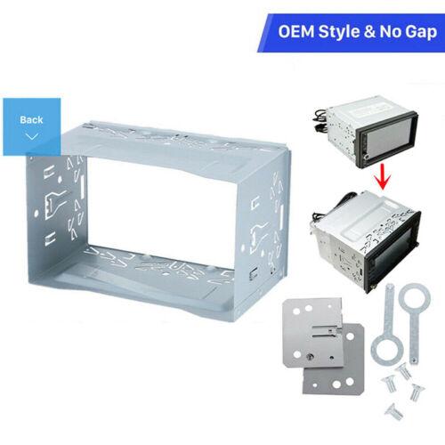 2DIN Doppelt Din Metall Rahmen Einbauschlitz Radio Einbaurahmen Autoradio Panel