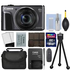 Canon PowerShot SX720 HS 20.3MP Digital Camera 40x Optical Zoom Black + 16GB Kit