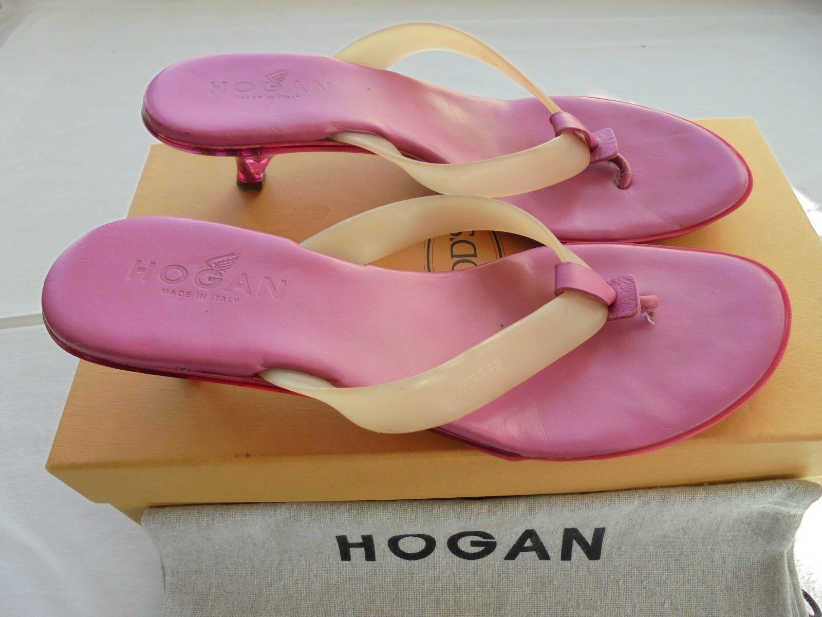 Original Hogan by by by Tod's Sandalen NP:  TOP Tasche Pumps Sandaletten Gr. 38 04076a
