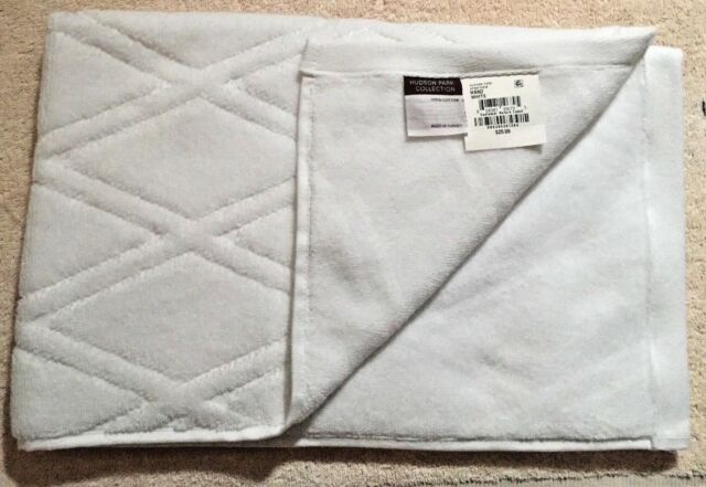 HUDSON PARK LUXE TURKISH COTTON  STERLING GRAY HAND TOWEL   NEW