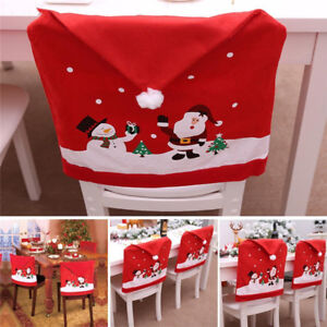 Christmas Chair Back Covers.Details About Christmas Chair Back Cover Santa Claus Snowman Decorations Home Chair Cover