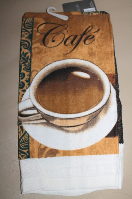 NEW BEAUTIFUL KITCHEN HAND DISH COTTON TOWEL Coffee Cup Cafe 100% Cotton