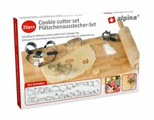 ALPINA 26 Piece Cookie Cutter Set ( Includes 25 cookie cutters & 1 storage ring)