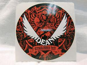 Bien Dean Guitare électrique Autocollant Decal Case Rack Autocollant Rouge Blanc Crâne Nice-afficher Le Titre D'origine Clair Et Distinctif