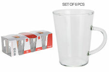 6er Set Durchsichtiges Glas Tee Becher Kaffeebecher 250ml Heiße Schokolade