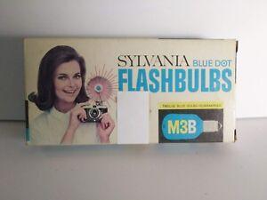 Sylvania M3B Blue Dot Flashbulbs 12 per pkg NOS