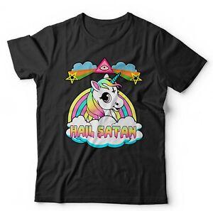 Hail-Satan-2-Unisex-Tshirt-Unicorn-Rainbow