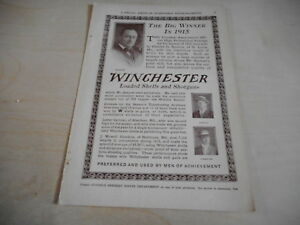 1916 MAGAZINE AD #A4-116 - WINCHESTER SHELLS AND SHOTGUNS