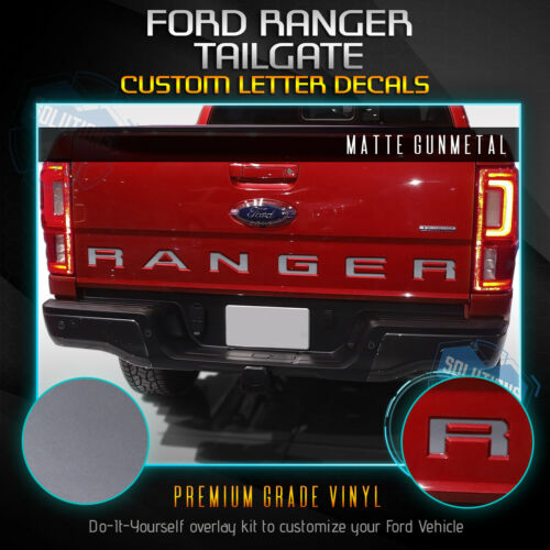 Solid Flat Matte Tailgate Letter Vinyl Decal Inserts Fit 2019 Ford Ranger
