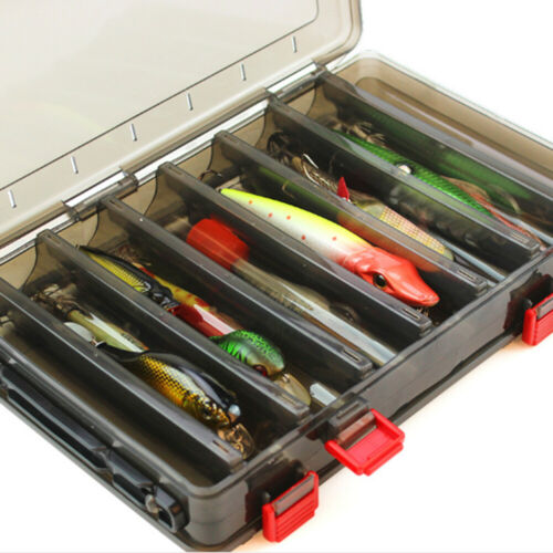 Plastic Double Side 10 Compartments Fishing Lure Bag Tackle Storage Box Hand bag