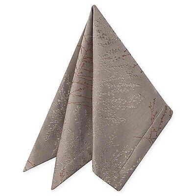 Waterford Linens Timber Napkins  Gold //Silver Set of 4 Metallic Jacquard 21x21